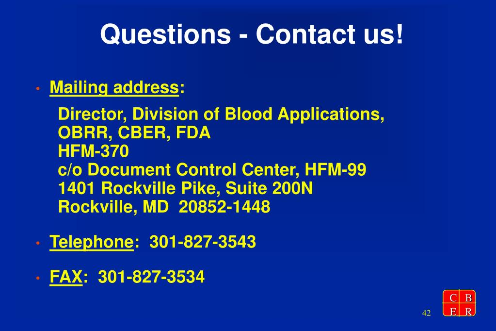 Questions - Contact us!
