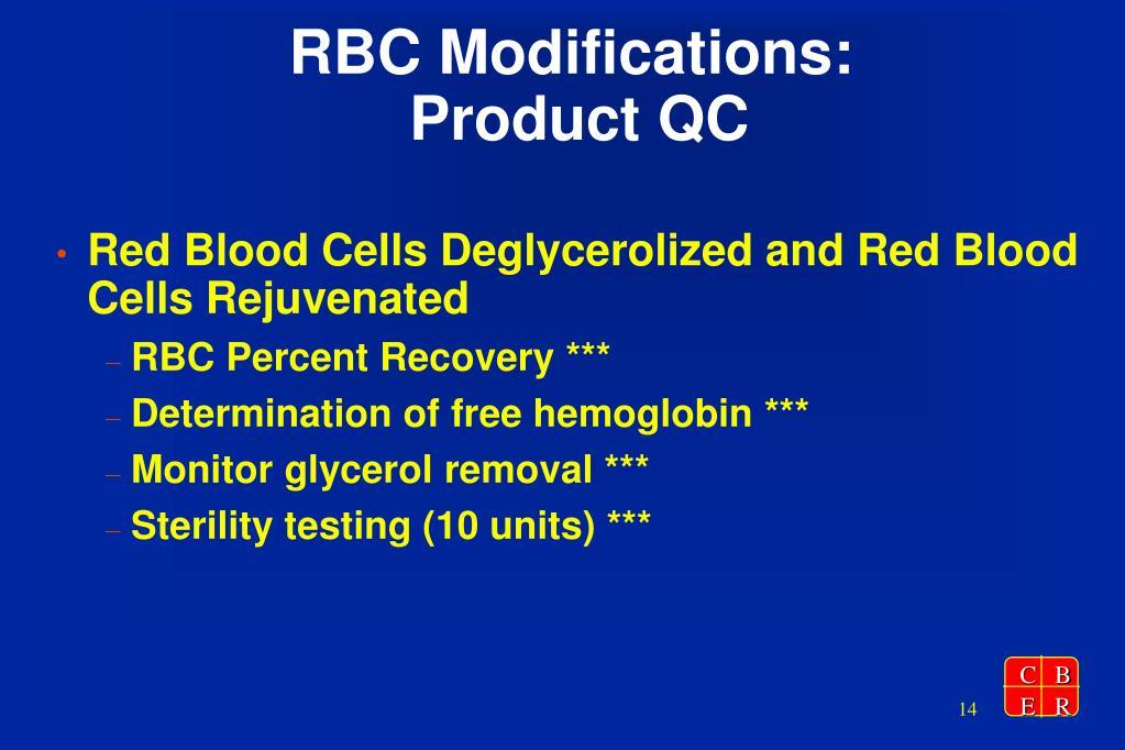 RBC Modifications:
