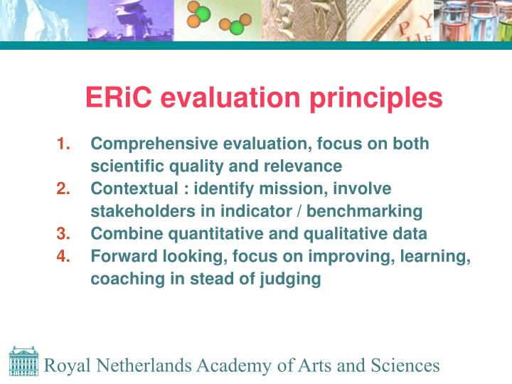 ERiC evaluation principles