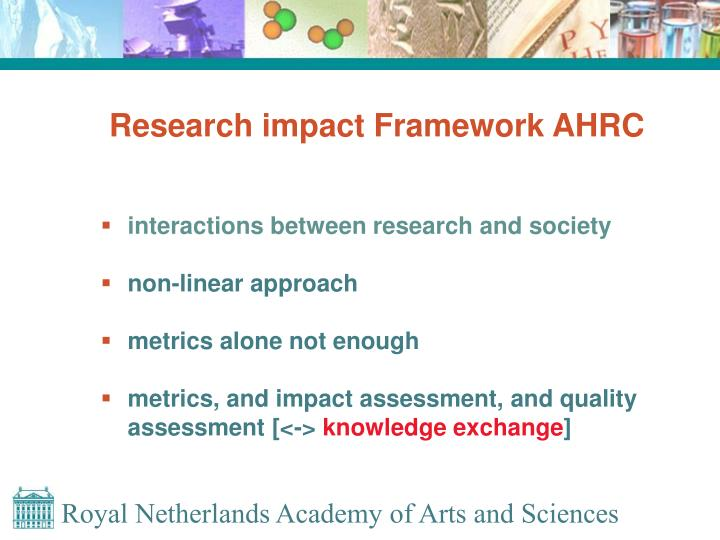 Research impact framework ahrc
