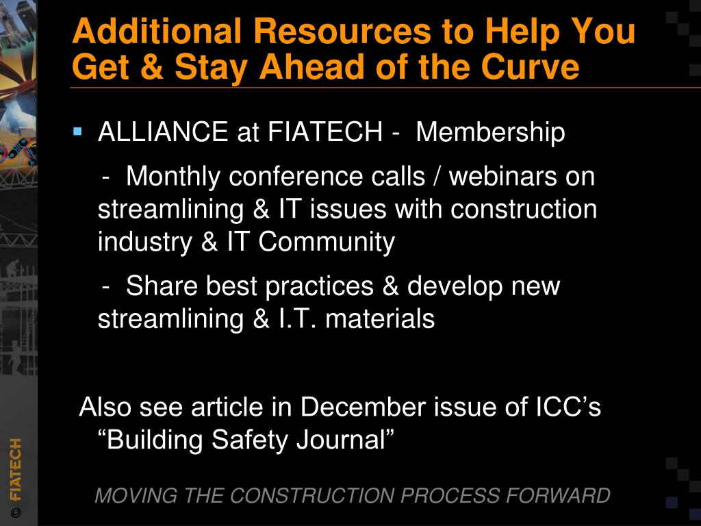 Additional Resources to Help You Get & Stay Ahead of the Curve