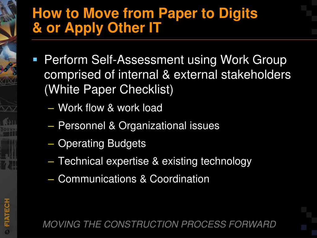 How to Move from Paper to Digits