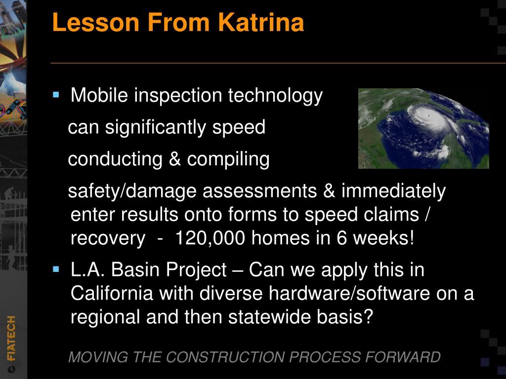 Lesson From Katrina