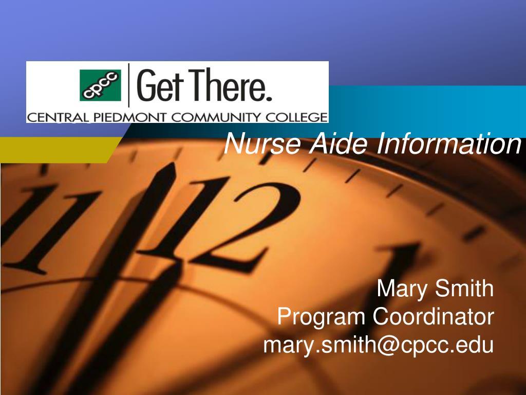 nurse aide information