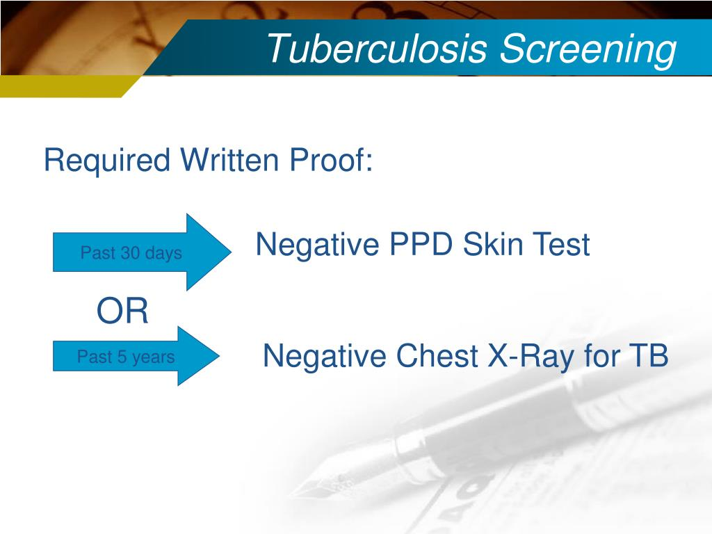 Tuberculosis Screening