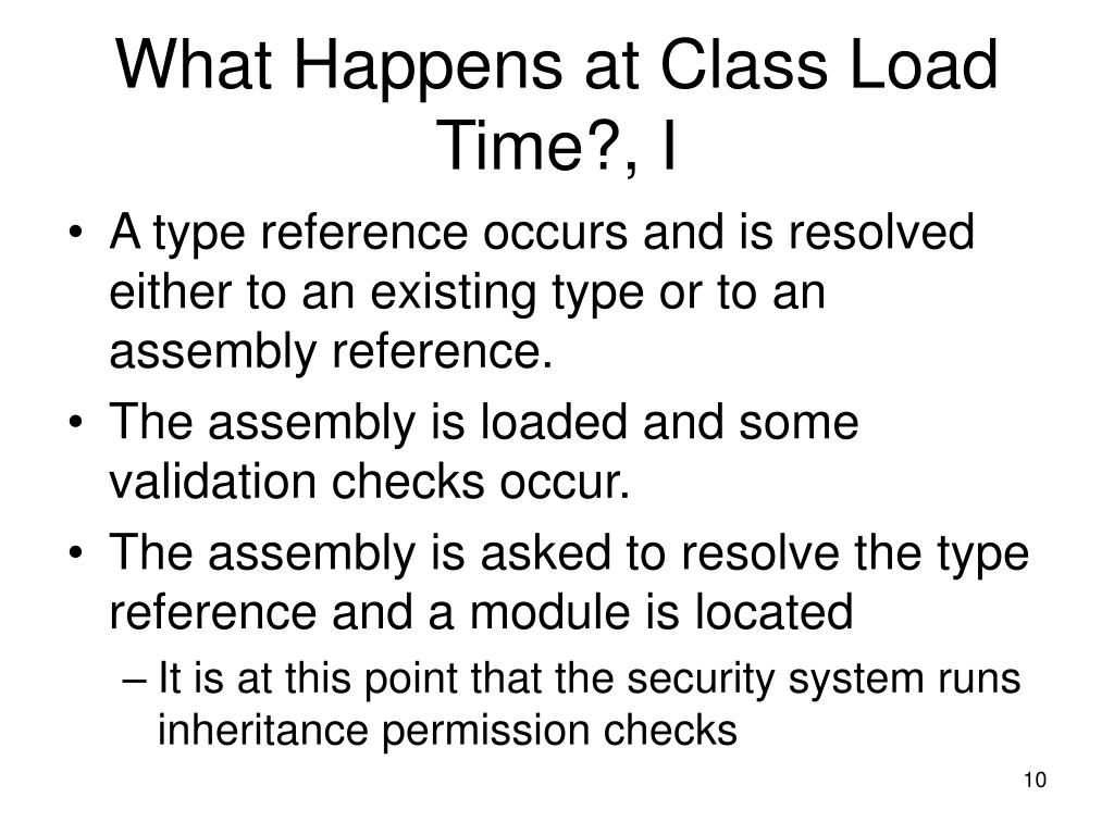 What Happens at Class Load Time?, I