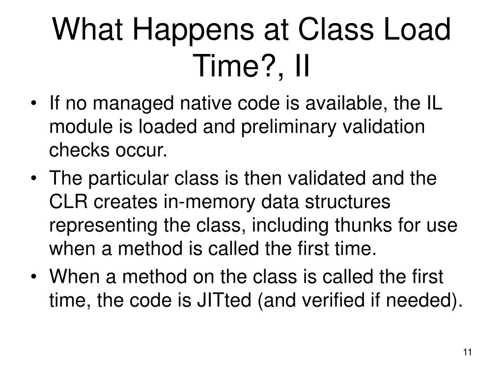 What Happens at Class Load Time?, II