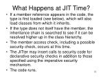 what happens at jit time