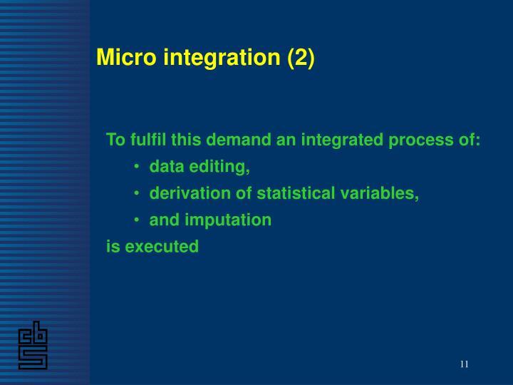 Micro integration (2)