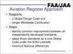 aviation register approach
