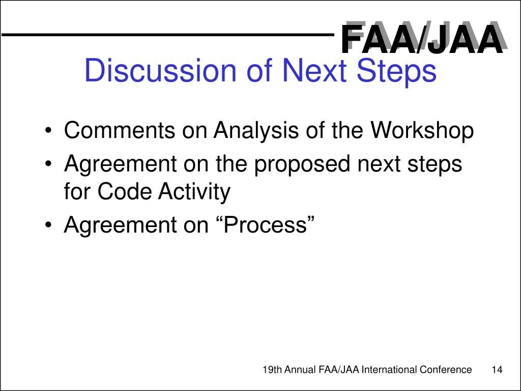 Discussion of Next Steps