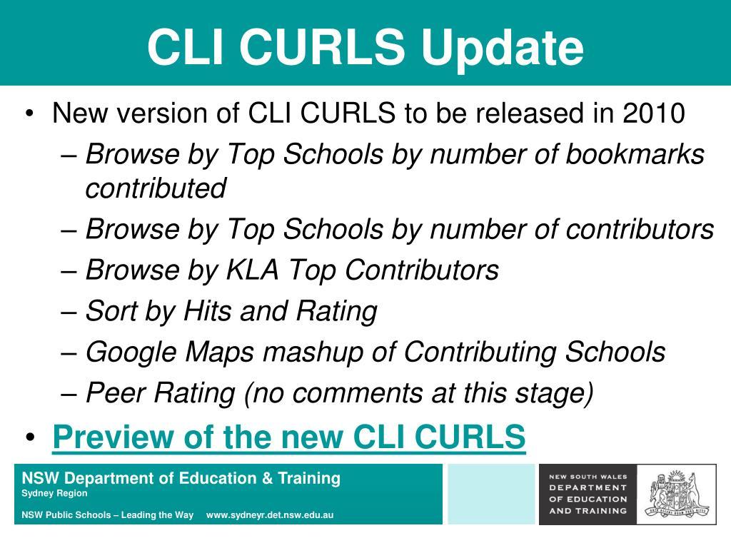 CLI CURLS Update