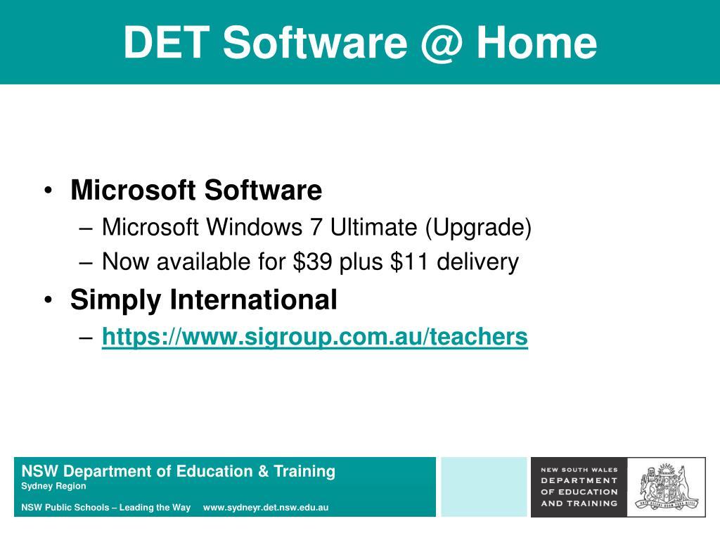DET Software @ Home
