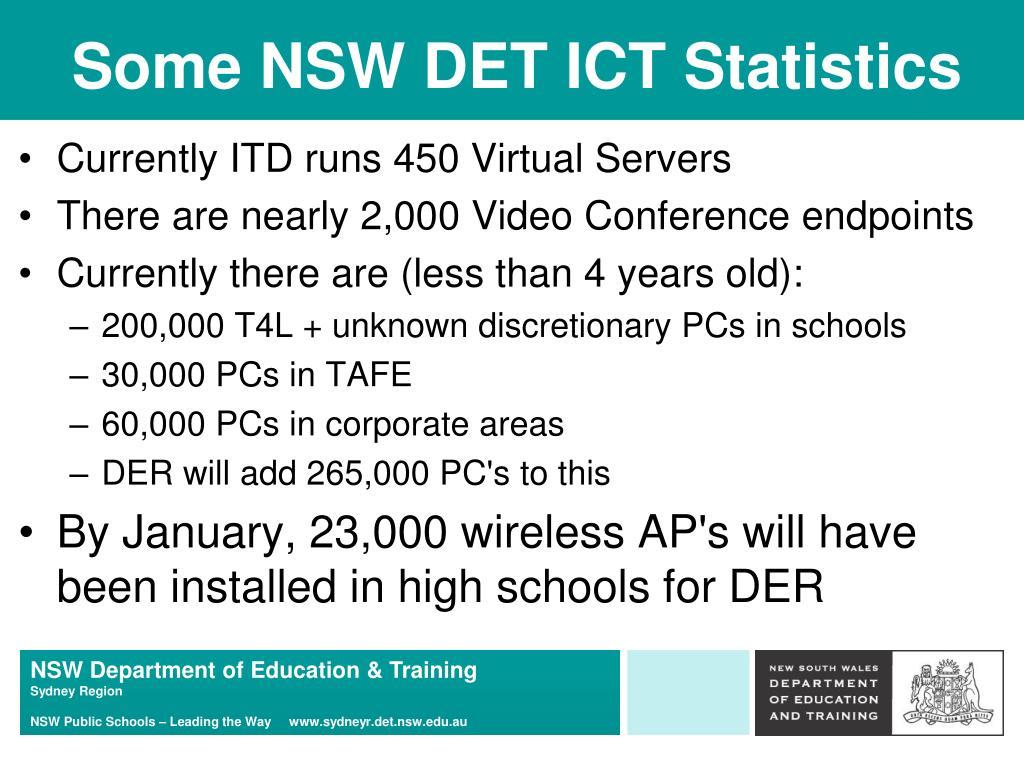 Some NSW DET ICT Statistics