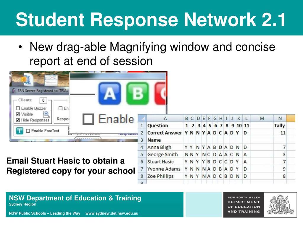 Student Response Network 2.1