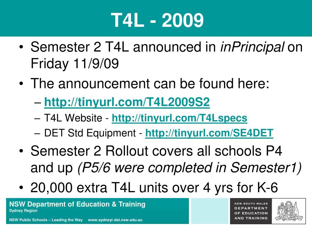 T4L - 2009