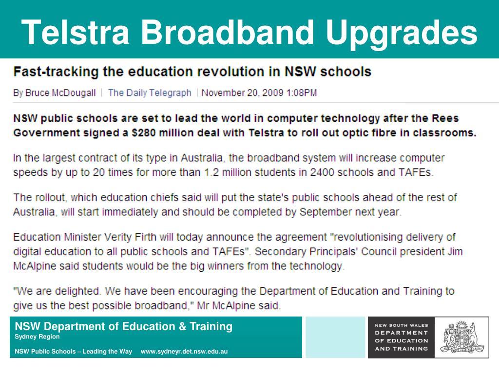 Telstra Broadband Upgrades