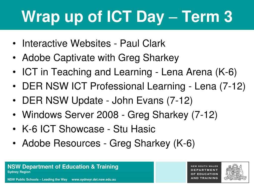 Wrap up of ICT Day