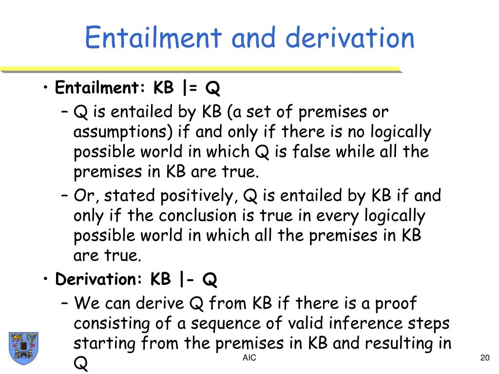 Entailment and derivation