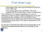 first order logic33