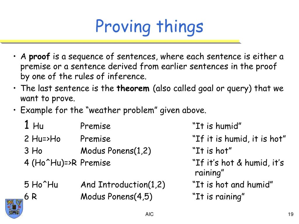 Proving things