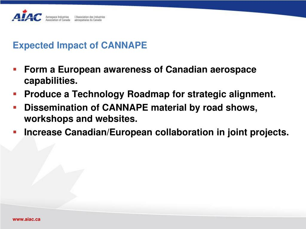 Expected Impact of CANNAPE