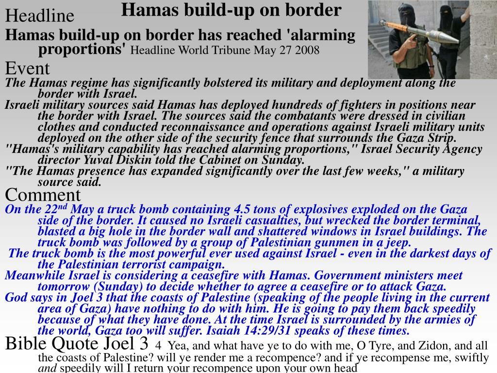 Hamas build-up on border