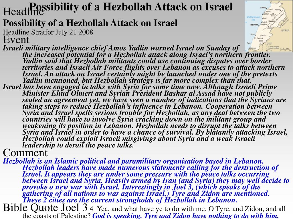 Possibility of a Hezbollah Attack on Israel