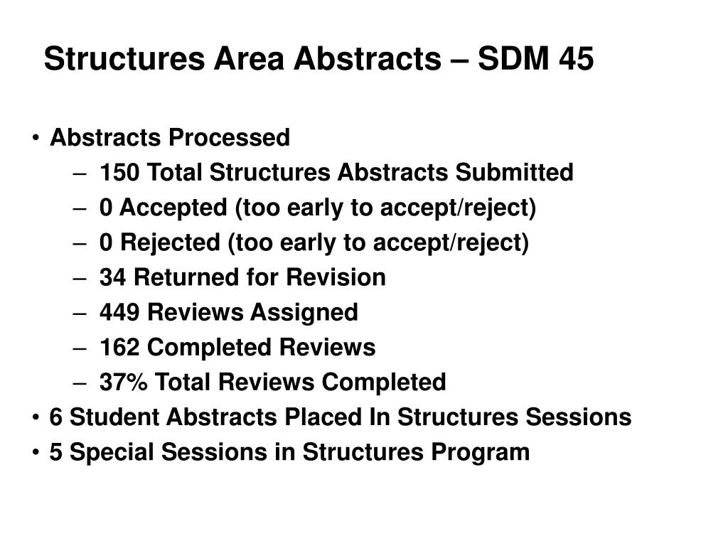 Structures Area Abstracts – SDM 45