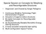special session on concepts for morphing and reconfigurable structures