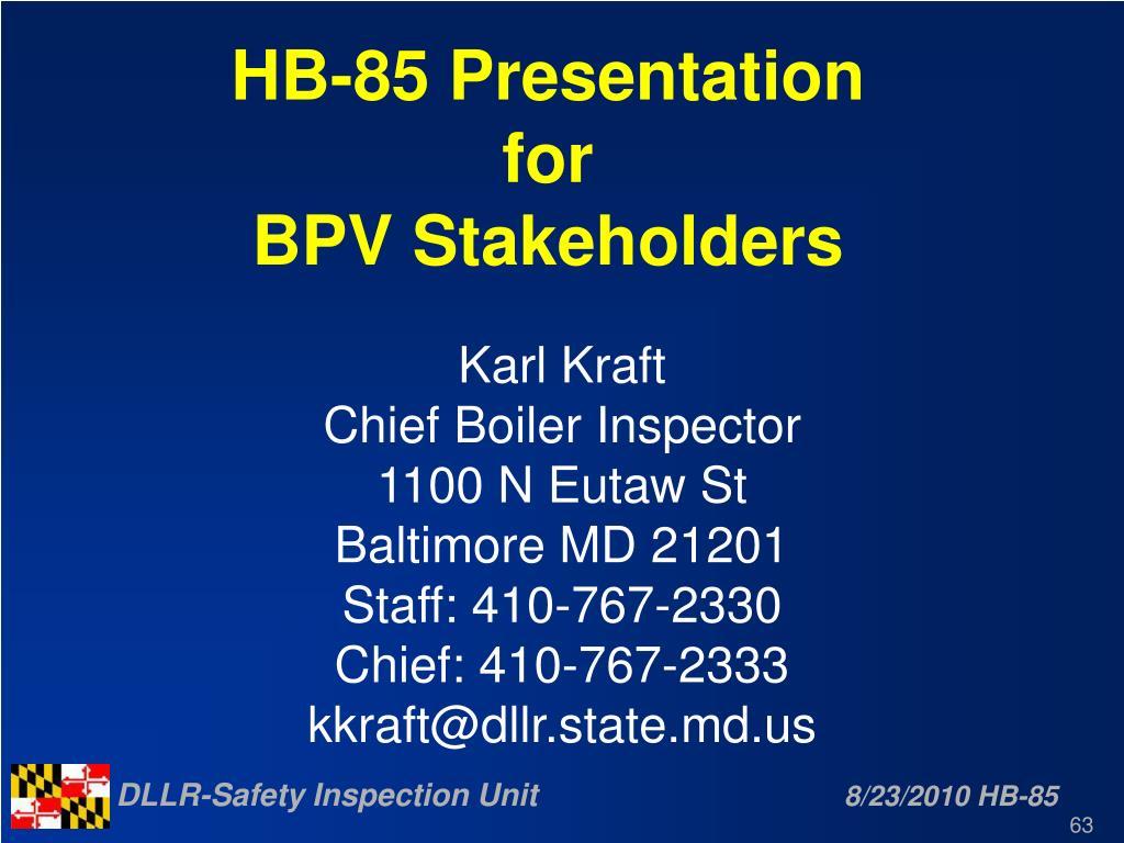 HB-85 Presentation