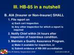 iii hb 85 in a nutshell18