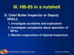 iii hb 85 in a nutshell20