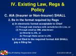 iv existing law regs policy27