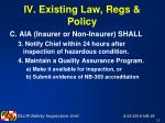iv existing law regs policy28