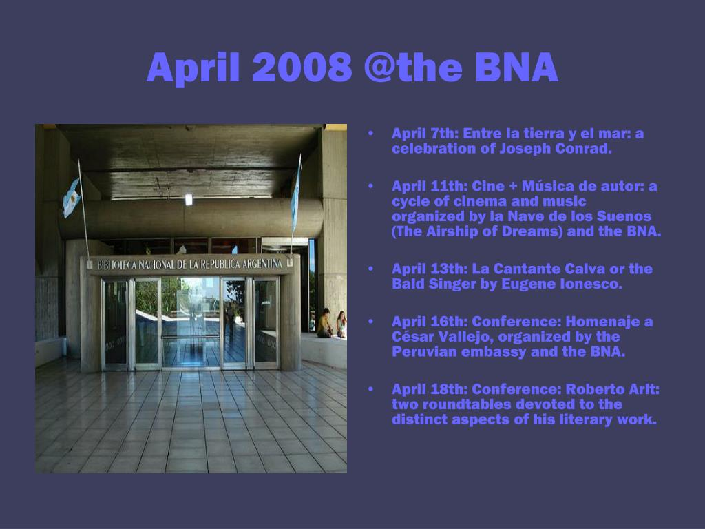 April 2008 @the BNA