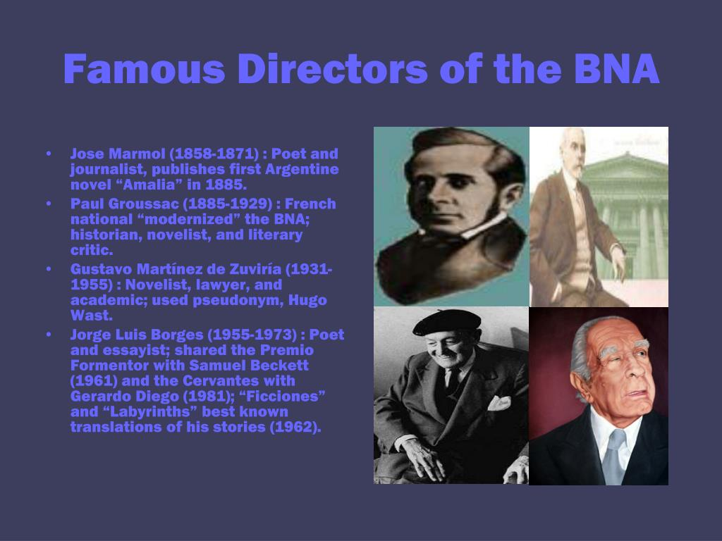 Famous Directors of the BNA