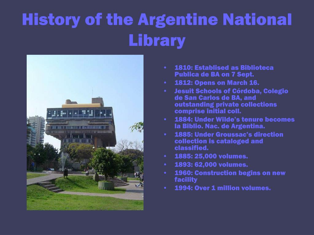 History of the Argentine National Library