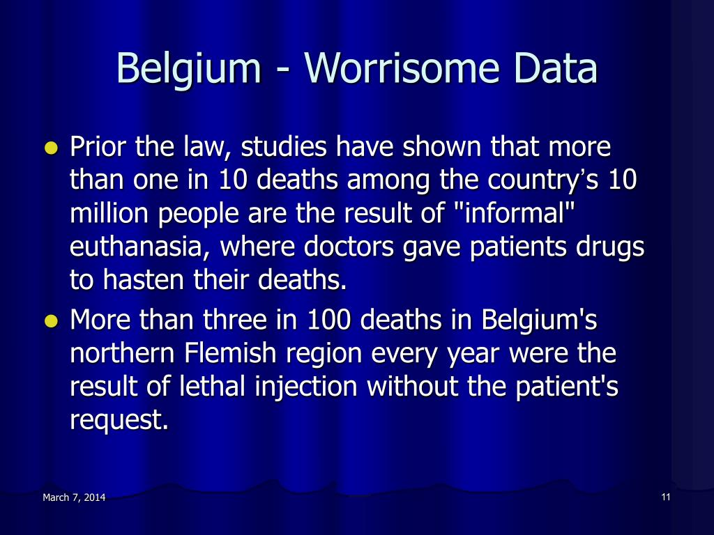 Belgium - Worrisome Data