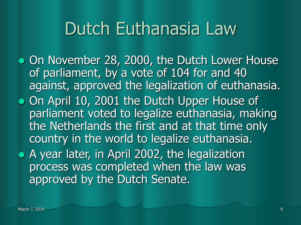 Dutch Euthanasia Law