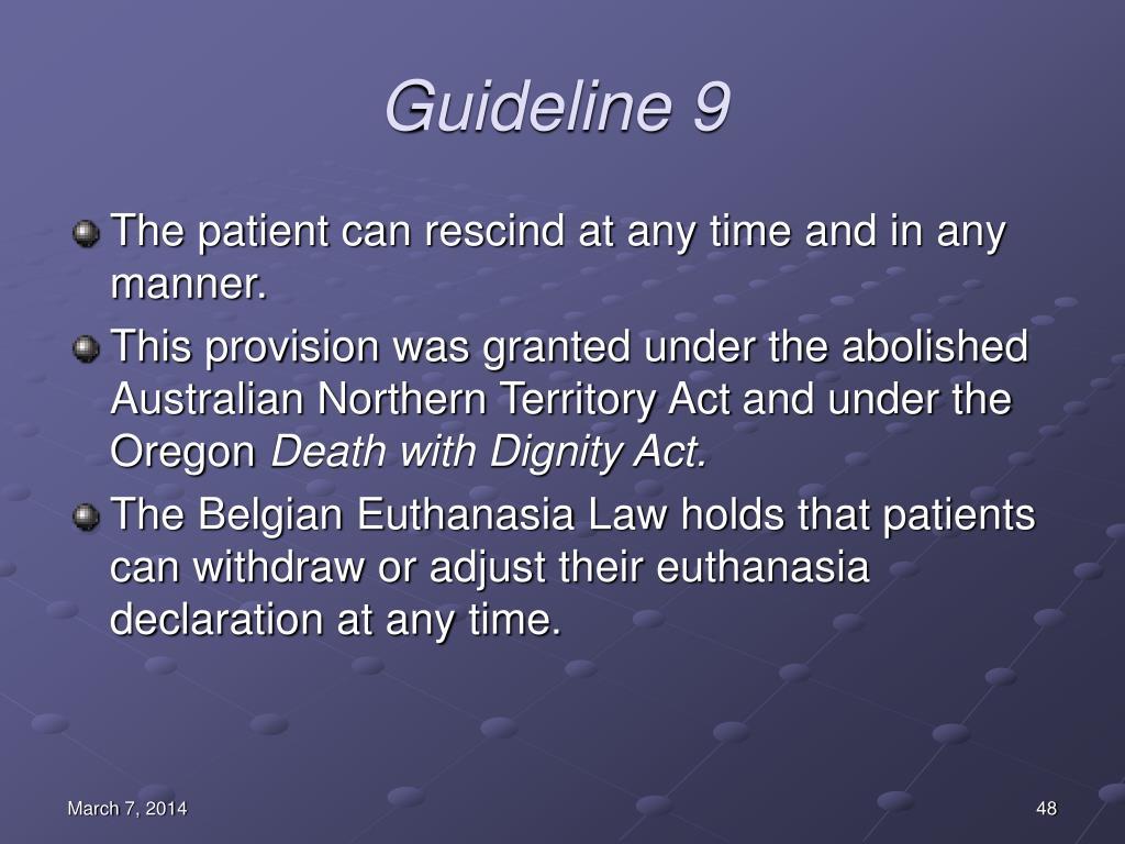 Guideline 9