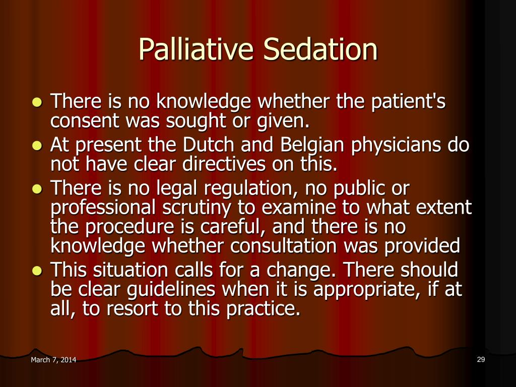 Palliative Sedation