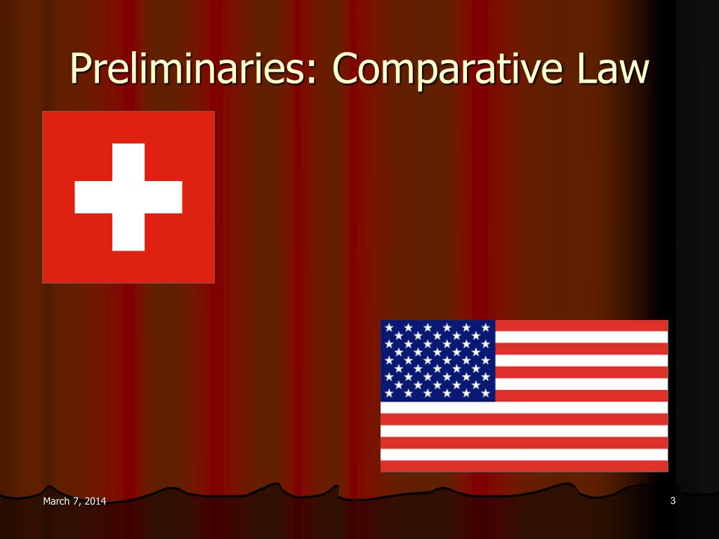 Preliminaries: Comparative Law