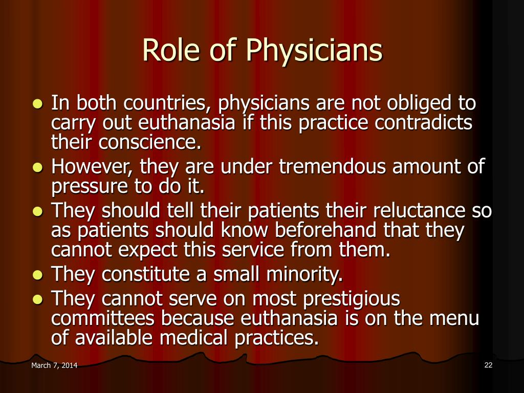 Role of Physicians