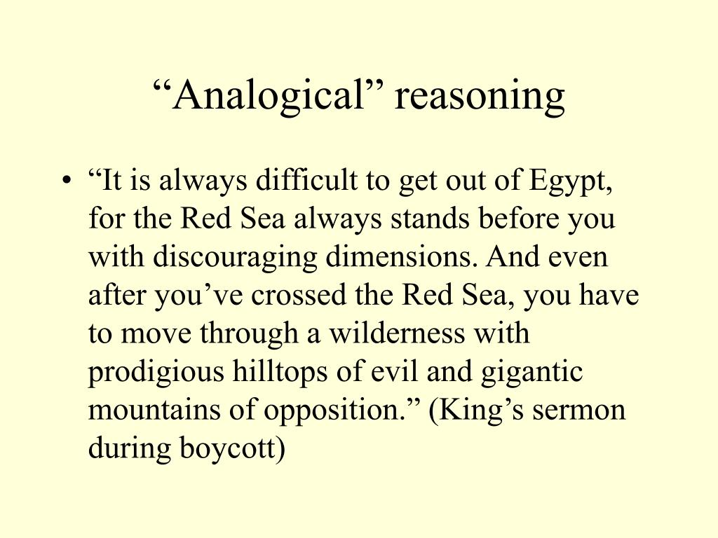 """Analogical"" reasoning"