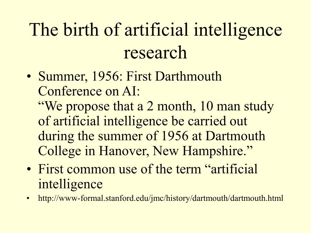 The birth of artificial intelligence research