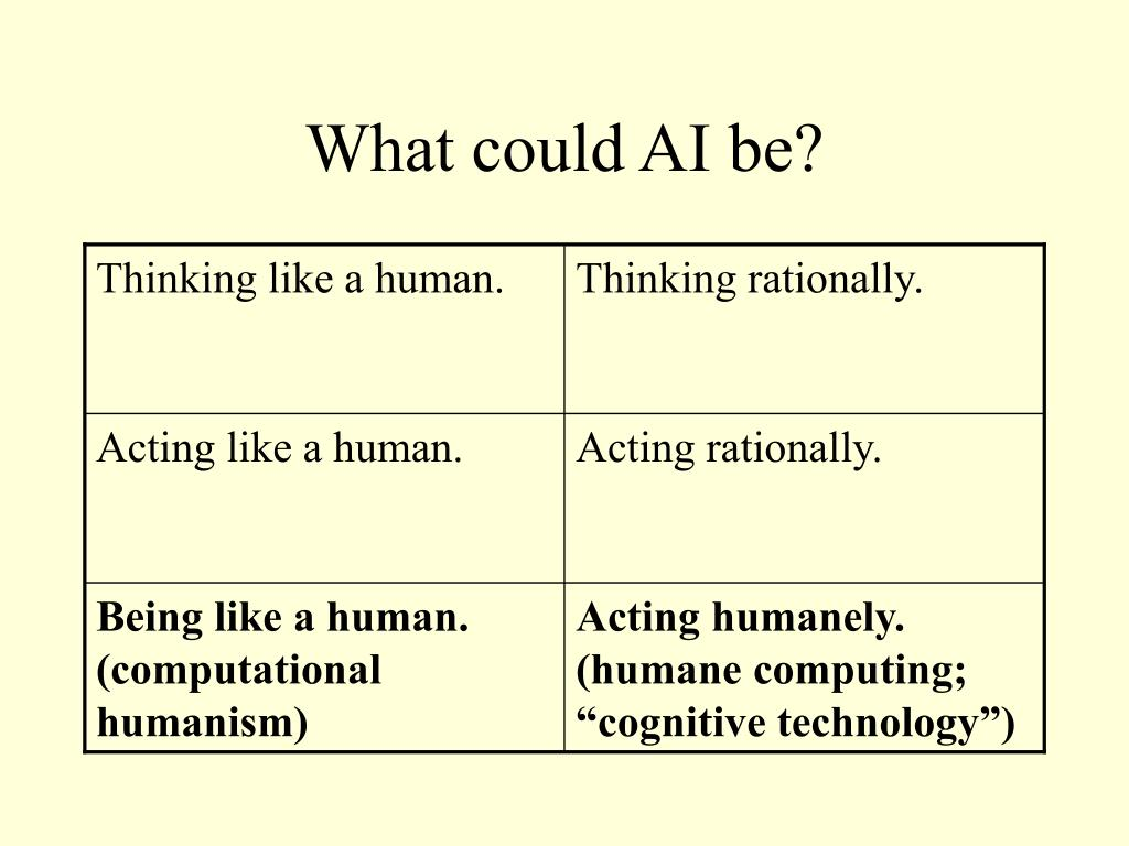 What could AI be?