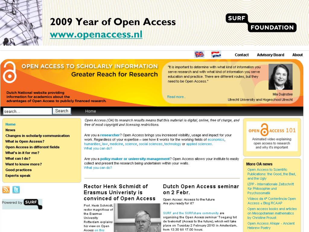 2009 Year of Open Access