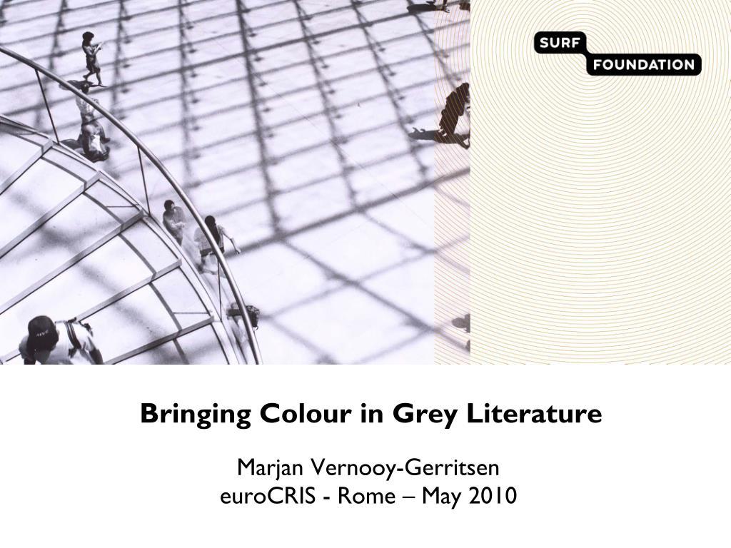 bringing colour in grey literature