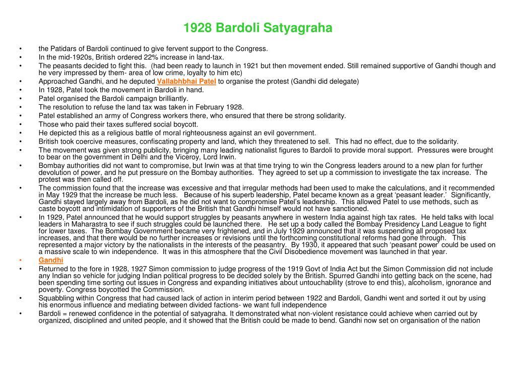 1928 Bardoli Satyagraha